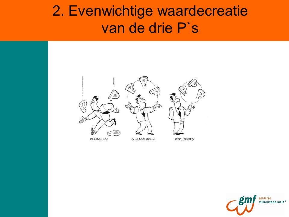 2. Evenwichtige waardecreatie van de drie P`s