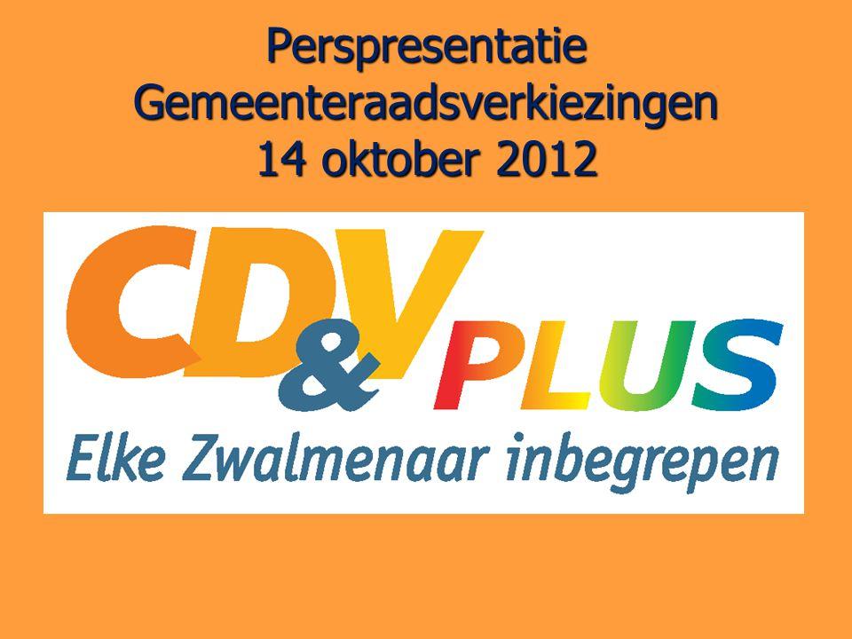 Perspresentatie Gemeenteraadsverkiezingen 14 oktober 2012