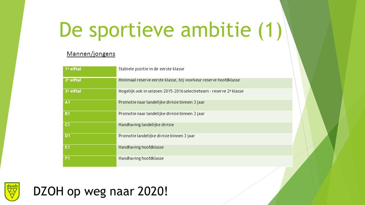 De structuur ambitie(1) DZOH op weg naar 2020.