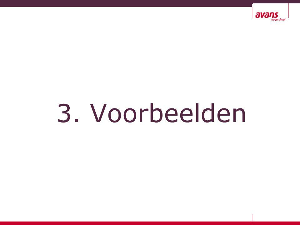 3. Voorbeelden