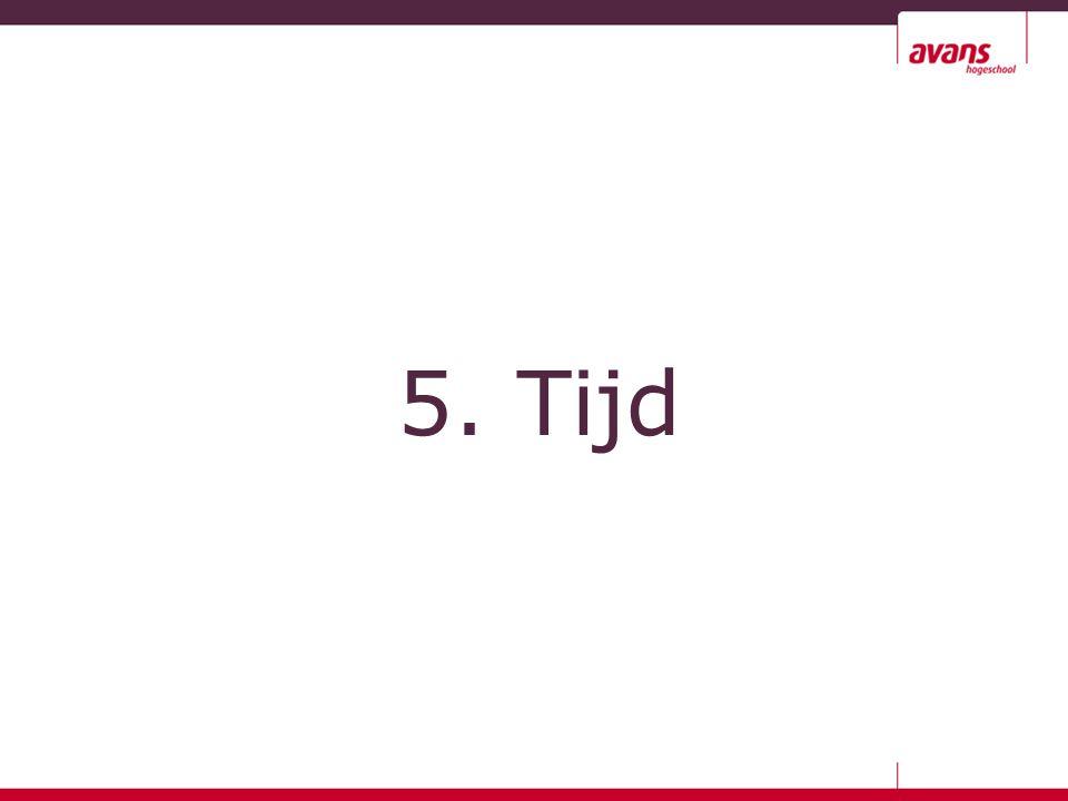 5. Tijd