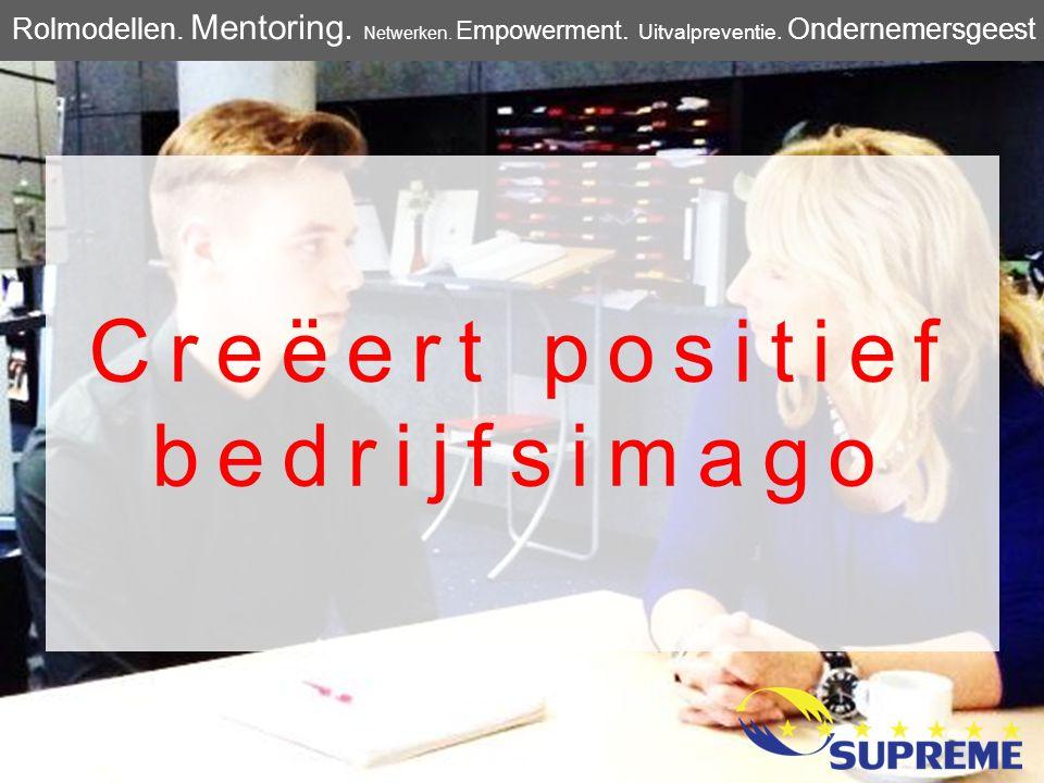 Creëert positief bedrijfsimago Rolmodellen. Mentoring. Netwerken. Empowerment. Uitvalpreventie. Ondernemersgeest