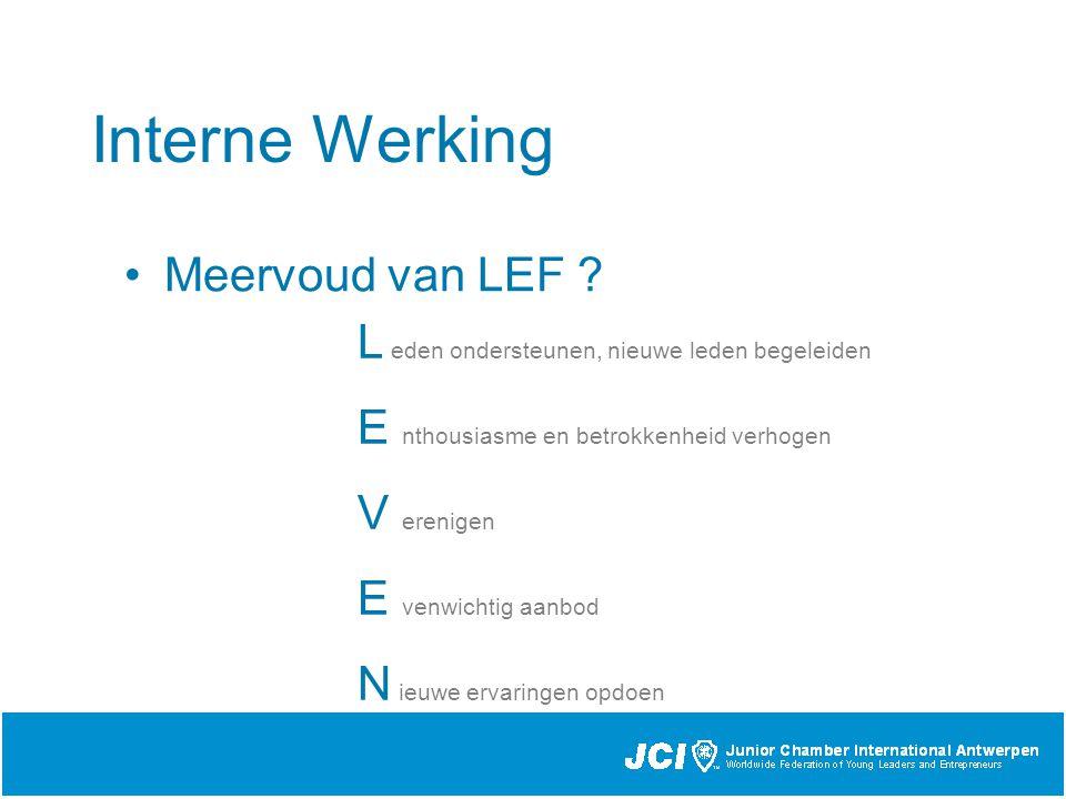 Interne Werking Meervoud van LEF .