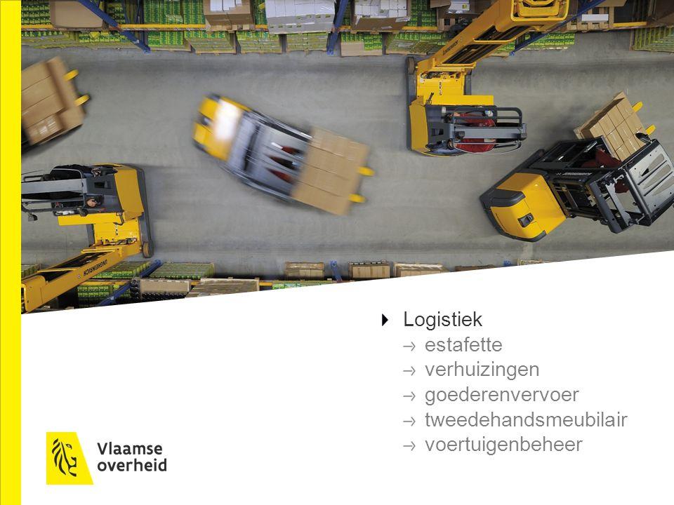 Logistiek estafette verhuizingen goederenvervoer tweedehandsmeubilair voertuigenbeheer