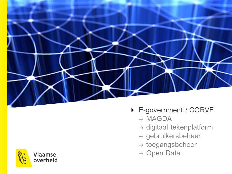 E-government / CORVE MAGDA digitaal tekenplatform gebruikersbeheer toegangsbeheer Open Data