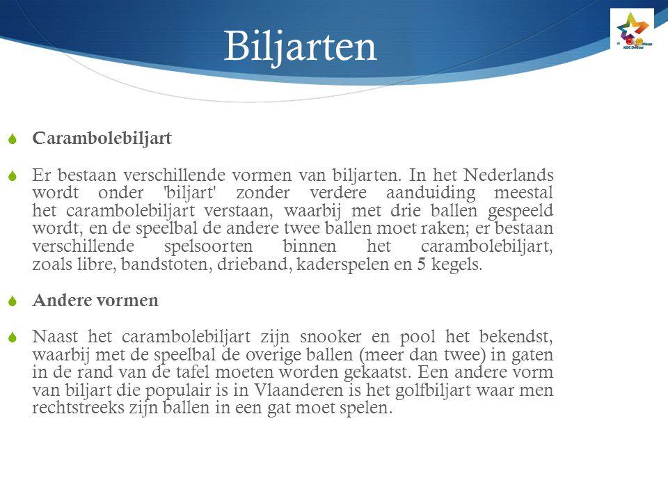 Biljart, een sport op doktersvoorschrift .