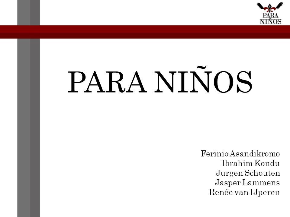 PARA NIÑOS Ferinio Asandikromo Ibrahim Kondu Jurgen Schouten Jasper Lammens Renée van IJperen
