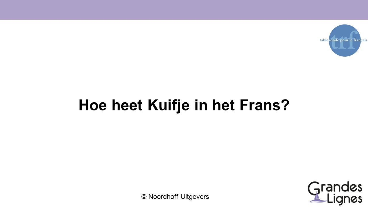 © Noordhoff Uitgevers Hoe heet Kuifje in het Frans?