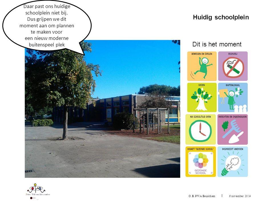 Prins Wtll em Alexander ···· -· Huidig schoolplein O.B.