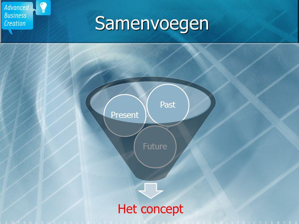 Samenvoegen Het concept FuturePresentPast