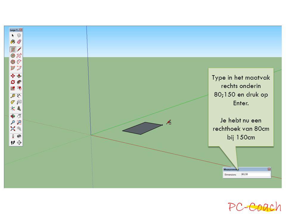 Trek met de Push Pool Tool (P) de rechthoek een eindje omhoog