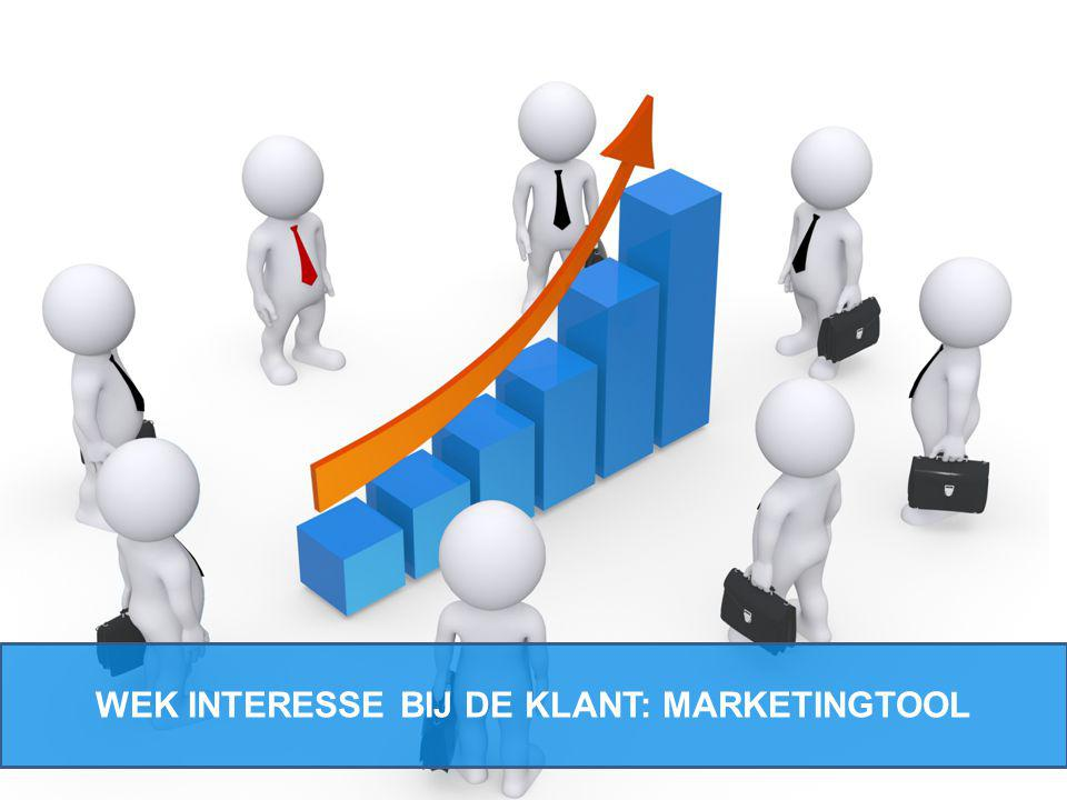 WEK INTERESSE BIJ DE KLANT: MARKETINGTOOL