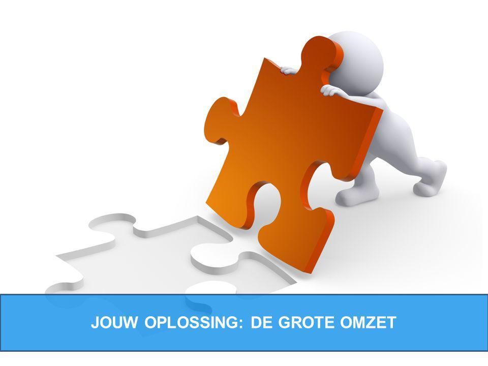 JOUW OPLOSSING: DE GROTE OMZET