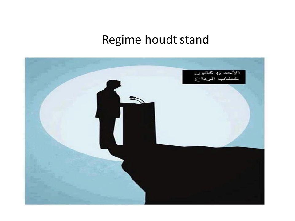 Regime houdt stand :