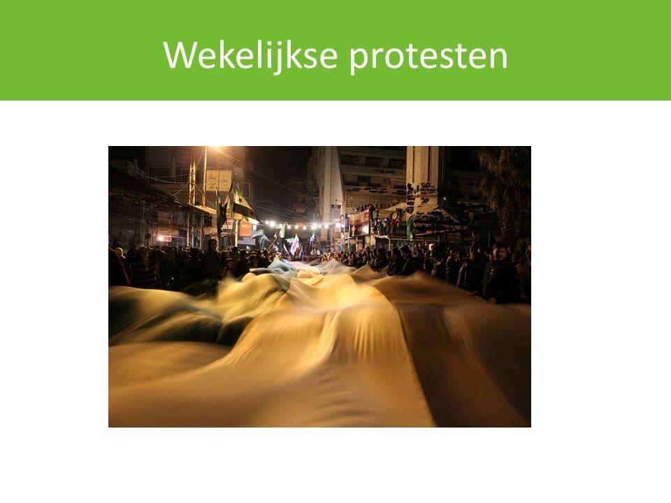Evolutie protestbeweging Politieke oppositie: – Syrische Nationale Raad en Nationaal Comité Verandering en Democratie.