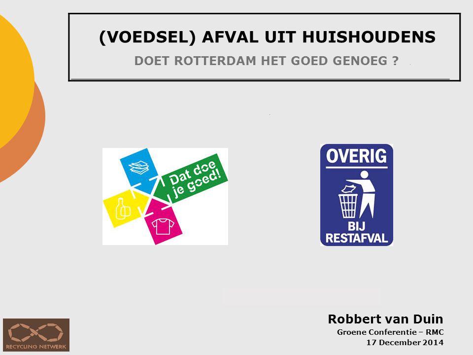 1.Hoeveelheid afval per inwoner per jaar (HHA: afval van gemiddeld huishouden in NL, excl.