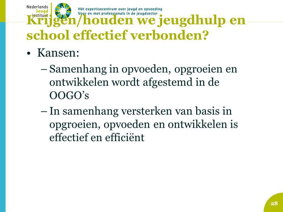 Krijgen/houden we jeugdhulp en school effectief verbonden.