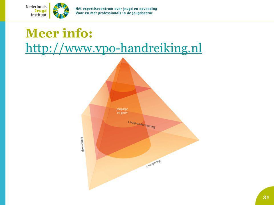 Meer info: http://www.vpo-handreiking.nl http://www.vpo-handreiking.nl 31
