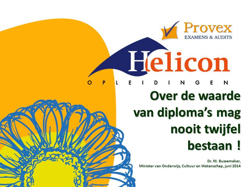 Over de waarde van diploma's mag nooit twijfel bestaan .