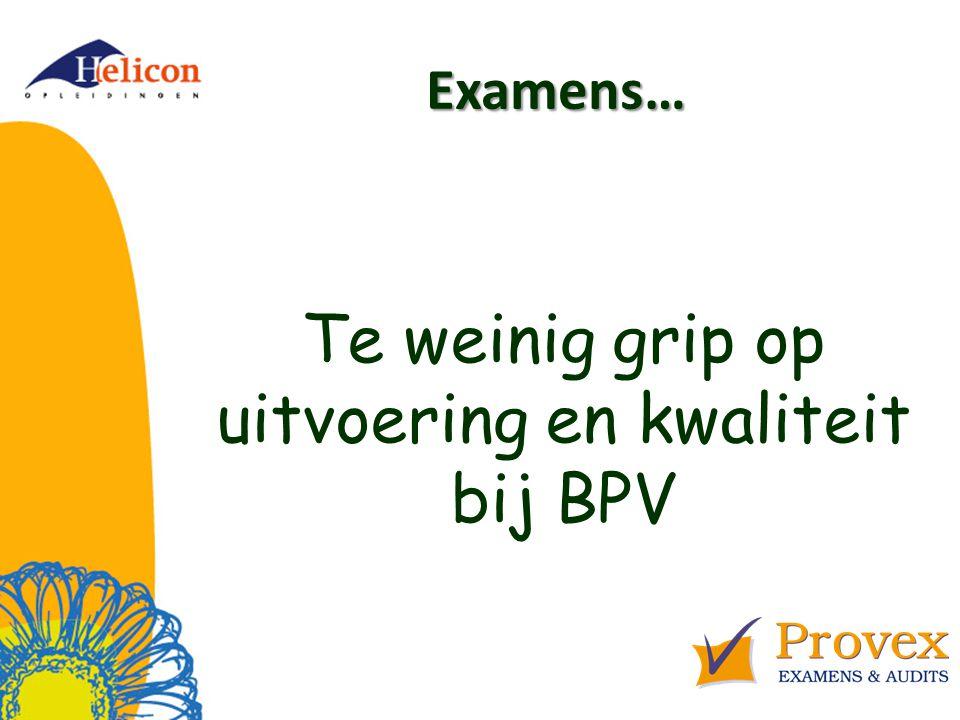 Citaten Bussemaker 7 Professionalisering van examenfunctionarissen.