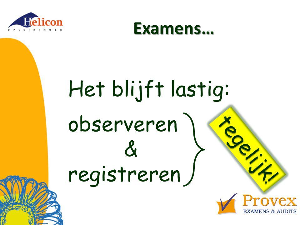Examens… Aantoonbaar Aantoonbaar deskundig als beoordelaar / examinator / assessor! Waar te vinden?