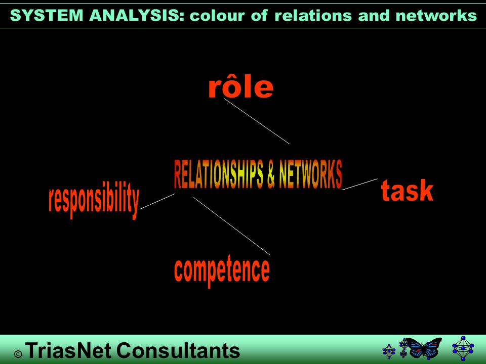 © TriasNet Consultants SYSTEM ANALYSIS: colour of relations and networks