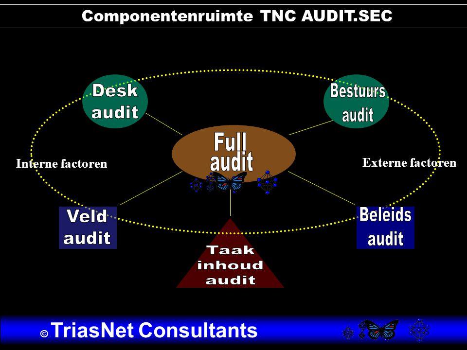 Interne factoren Externe factoren Componentenruimte TNC AUDIT.SEC © TriasNet Consultants