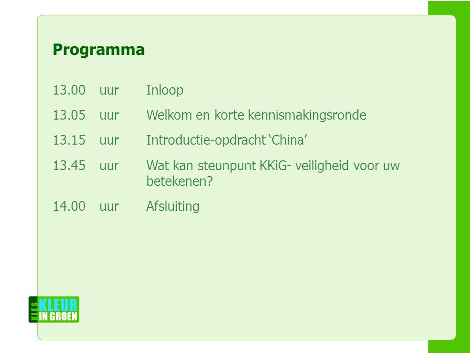 Naam workshopleiders Naam workshop Naam instelling Programma 13.00uurInloop 13.05uurWelkom en korte kennismakingsronde 13.15uurIntroductie-opdracht 'C