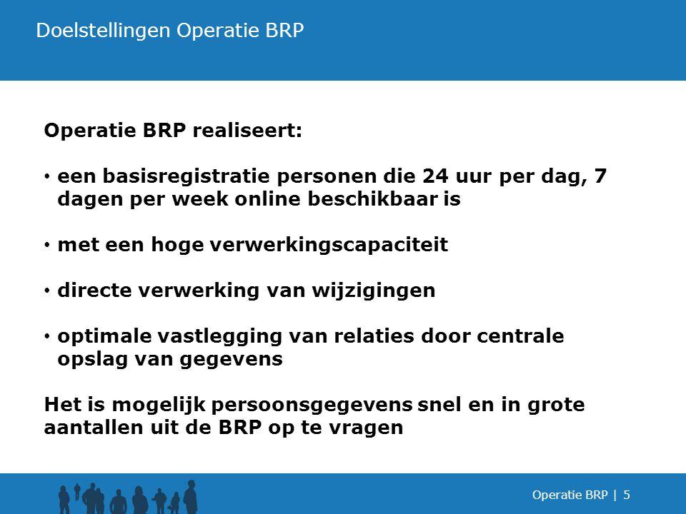 Operatie BRP |6 Het concept achter de BRP De BRP in één oogopslag