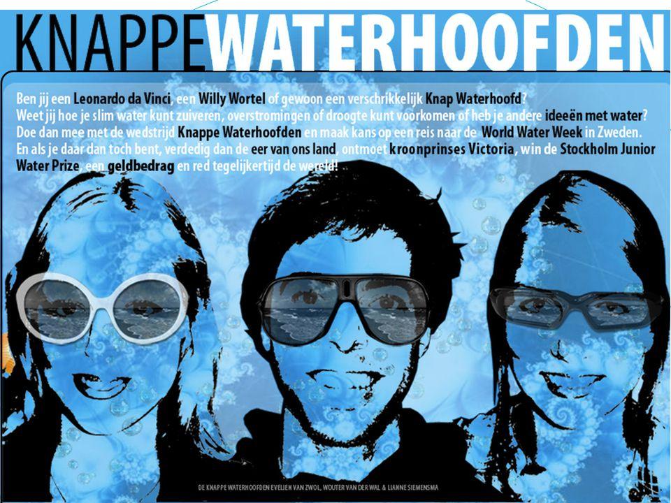 Ikonderzoekwater.nl: - profielwerkstuk over water - Waterprofessionals coachen scholieren - Combinatie met wedstrijd Knappe Waterhoofden