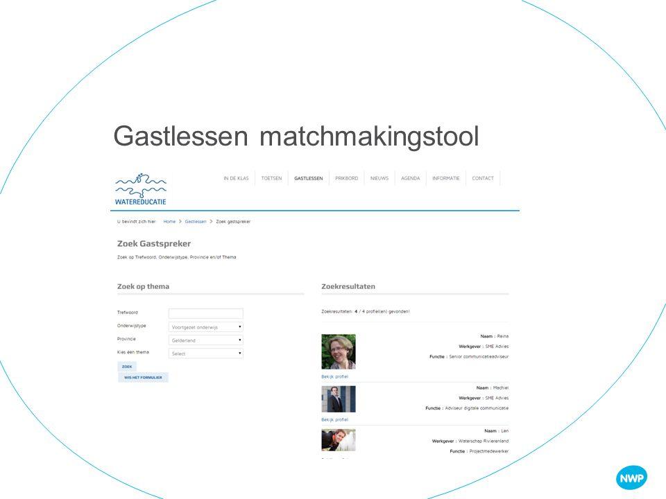 Gastlessen matchmakingstool