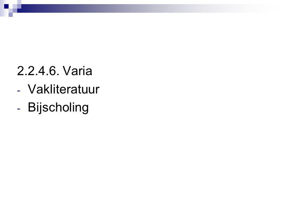 2.2.4.6. Varia - Vakliteratuur - Bijscholing