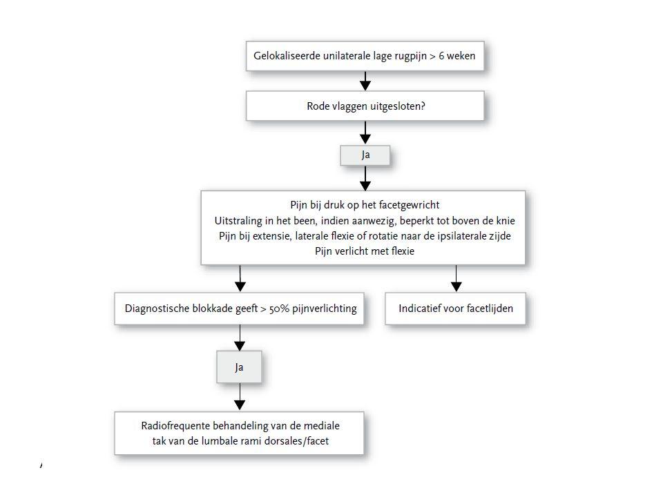 AVU sept 2009 Lumbale facetpijn: Algoritme