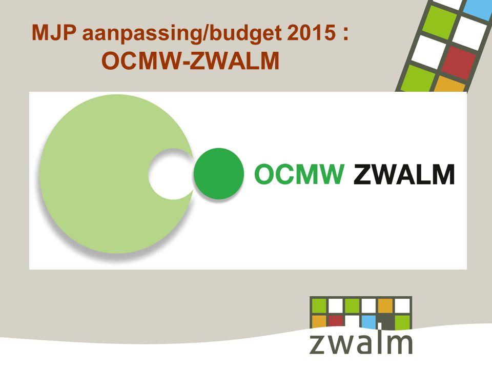 MJP aanpassing/budget 2015 : OCMW-ZWALM