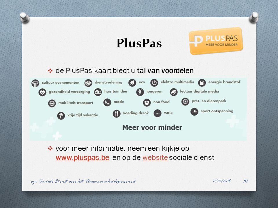 PlusPas  de PlusPas-kaart biedt u tal van voordelen  voor meer informatie, neem een kijkje op www.pluspas.be en op de website sociale dienst www.plu