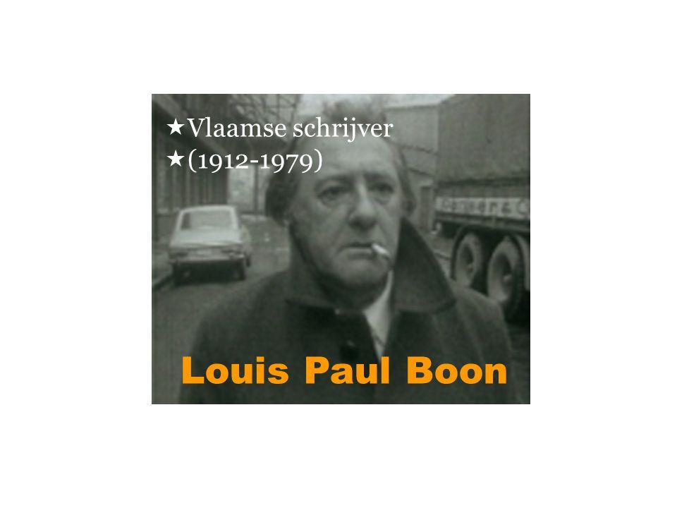 Louis Paul Boon  Vlaamse schrijver  (1912-1979)