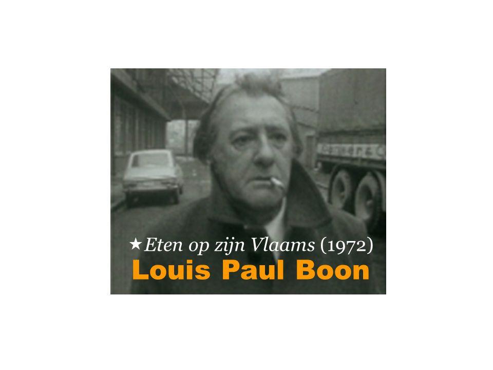 Louis Paul Boon  Eten op zijn Vlaams (1972)