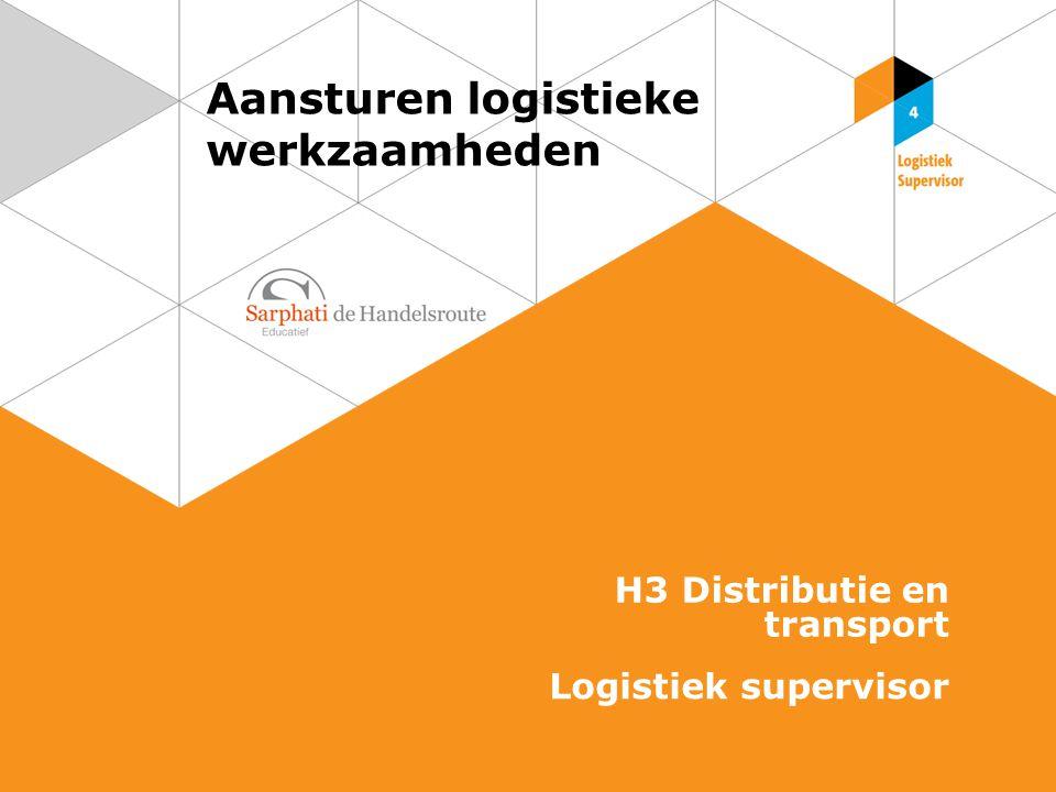 Aansturen logistieke werkzaamheden H3 Distributie en transport Logistiek supervisor