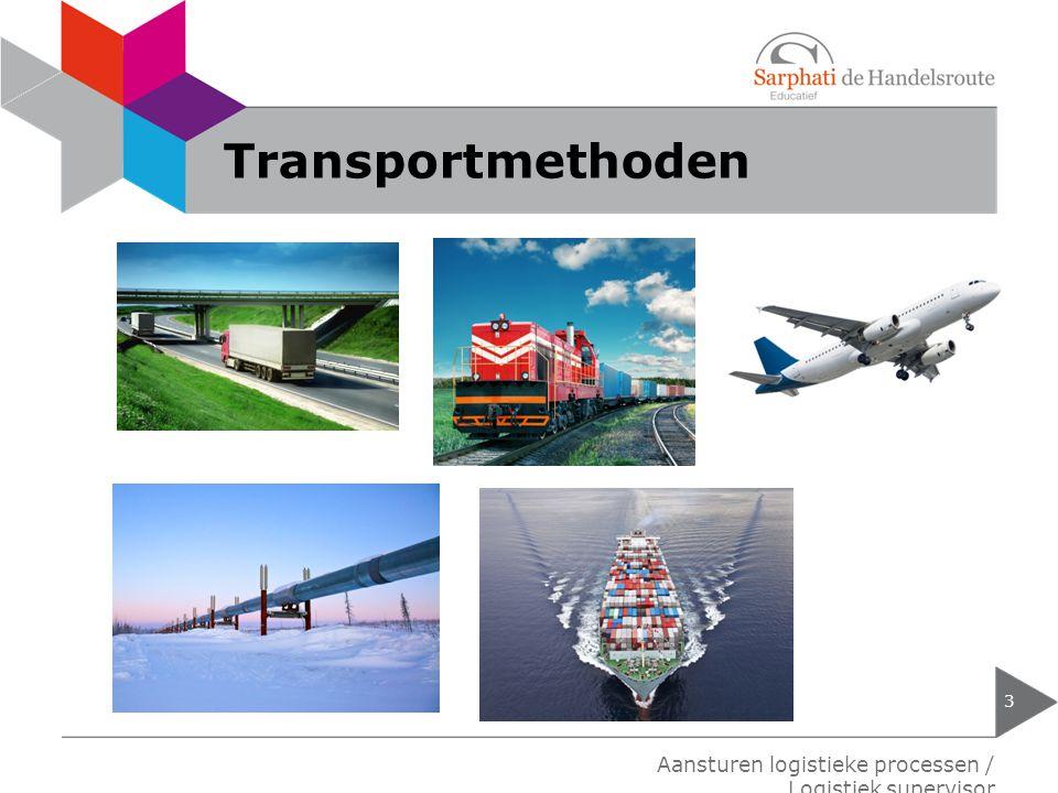 Transportmethoden 3 Aansturen logistieke processen / Logistiek supervisor