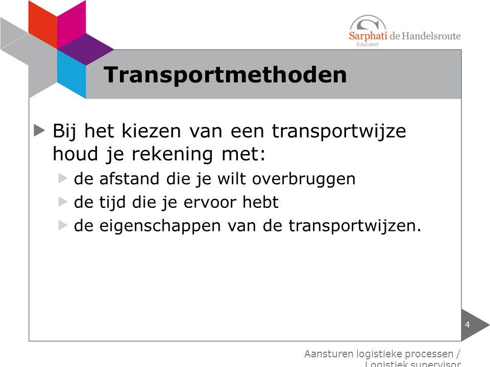 Bij de keuze tussen eigen vervoer en uitbesteed vervoer, houd je rekening met: de eisen die je aan het transport stelt.
