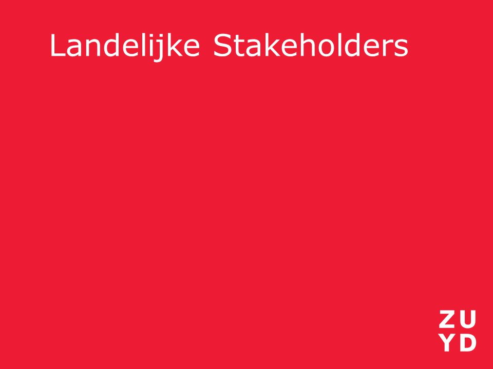 Landelijke Stakeholders