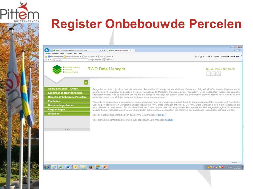 Register Onbebouwde Percelen