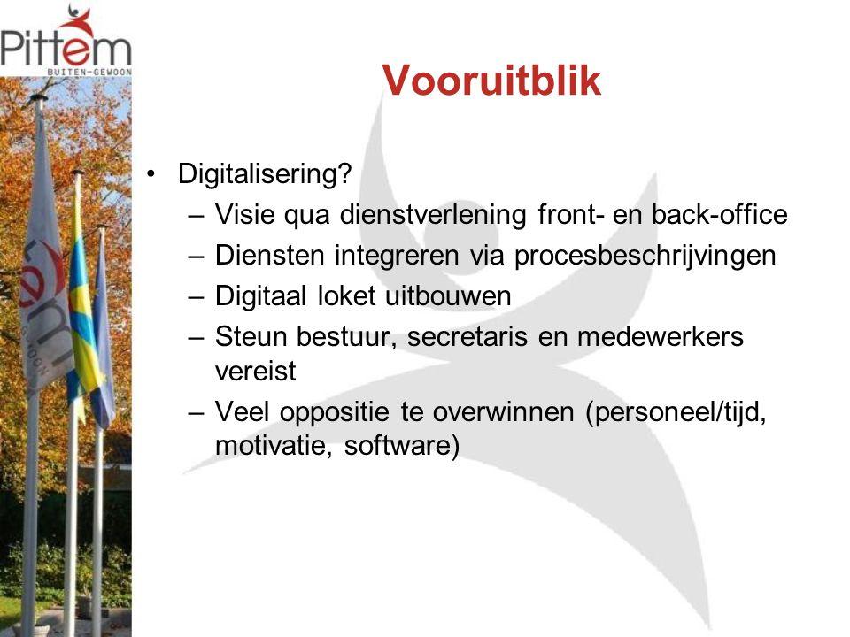 Vooruitblik Digitalisering.
