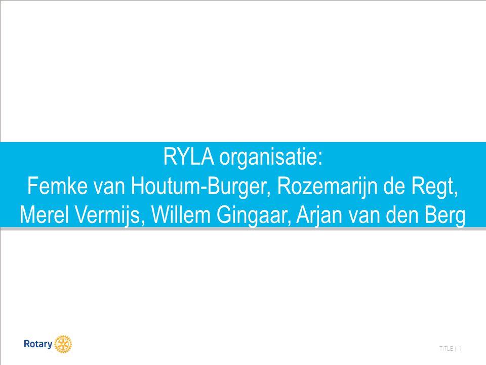TITLE | 1 RYLA organisatie: Femke van Houtum-Burger, Rozemarijn de Regt, Merel Vermijs, Willem Gingaar, Arjan van den Berg