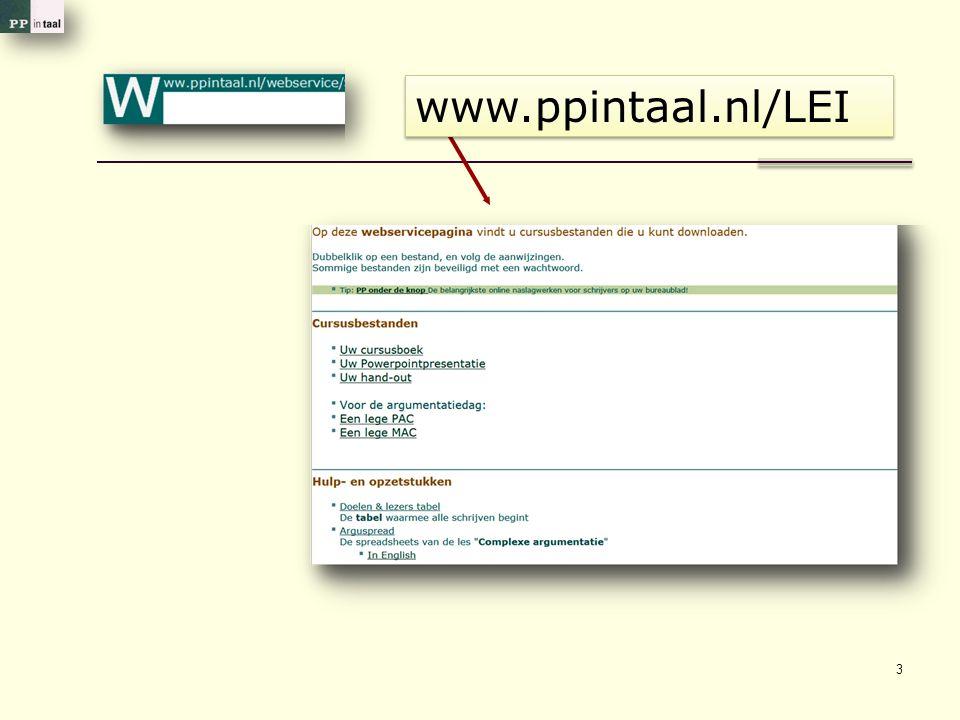 3 www.ppintaal.nl/LEI