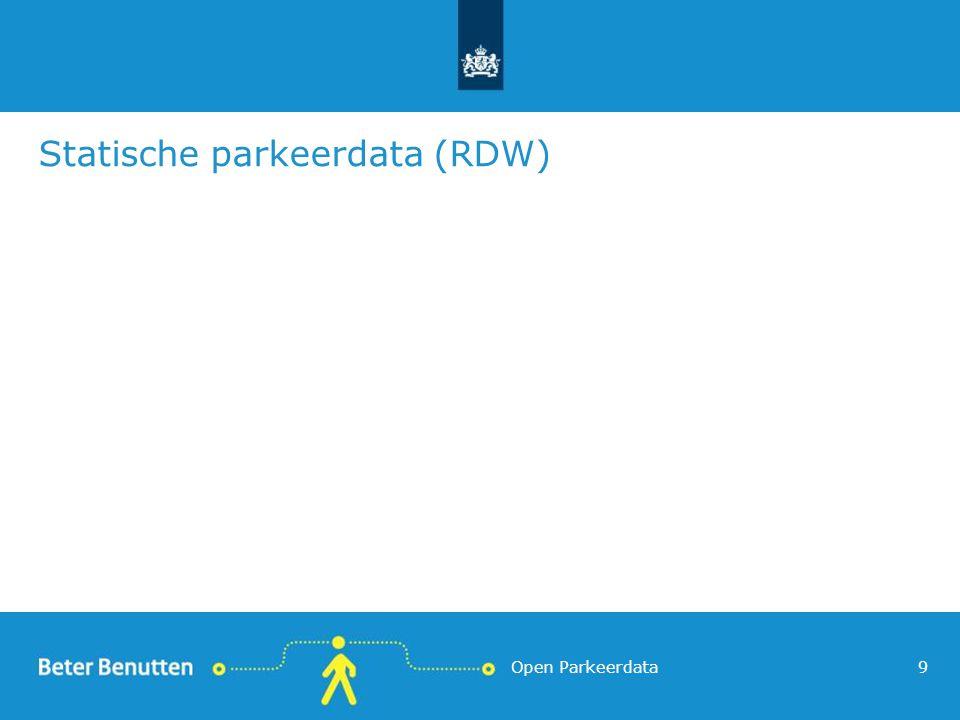 Statische parkeerdata (RDW) Open Parkeerdata9