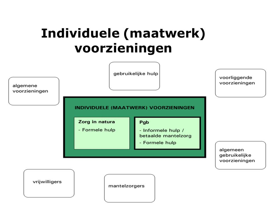 Individuele (maatwerk) voorzieningen