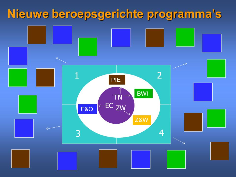 Nieuwe beroepsgerichte programma's EC ZW TN E&O PIE BWI Z&W 12 3 4