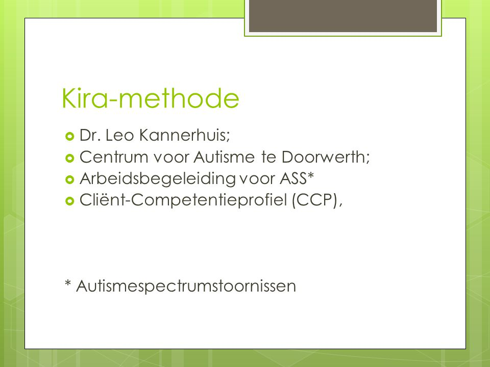Kira-methode  Dr.