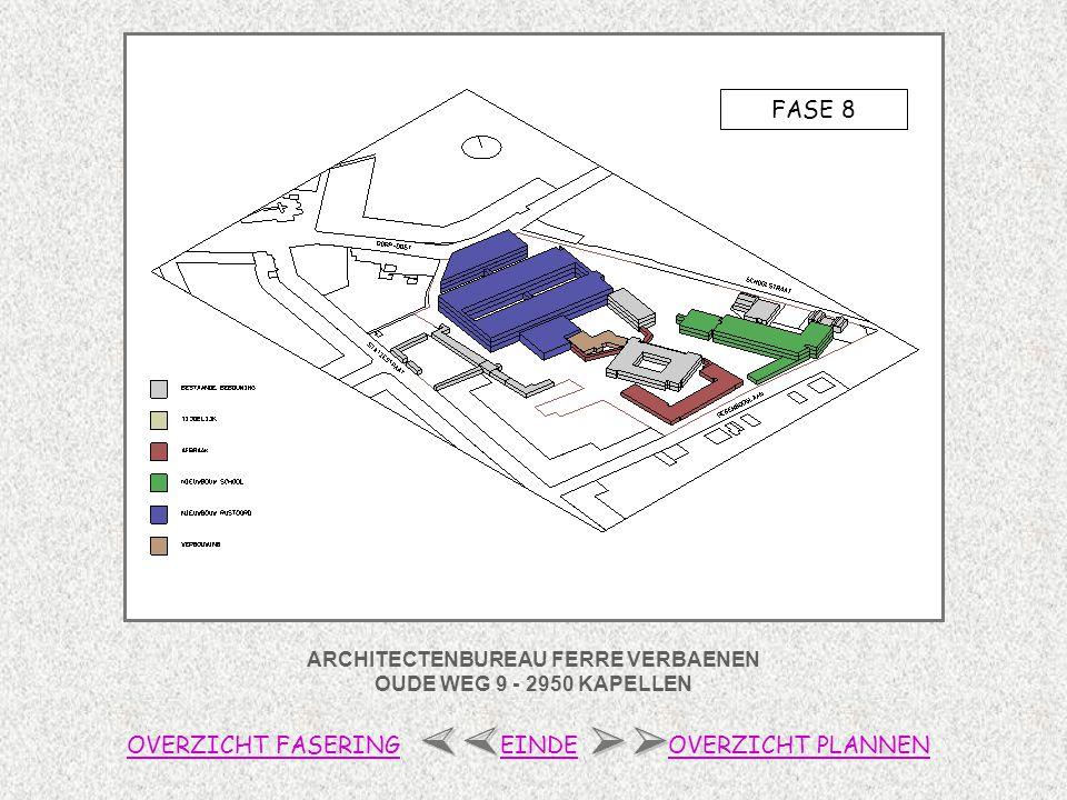 ARCHITECTENBUREAU FERRE VERBAENEN OUDE WEG 9 - 2950 KAPELLEN FASE 8 OVERZICHT FASERINGOVERZICHT PLANNENEINDE